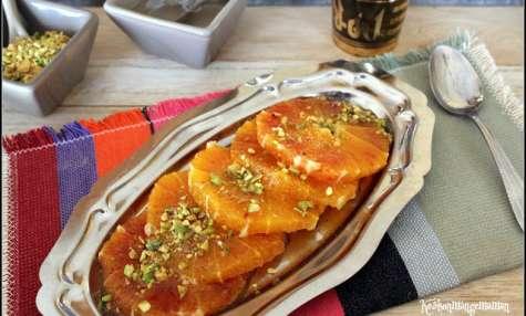 Salade d'oranges maltaises aux pistaches et à l'ater