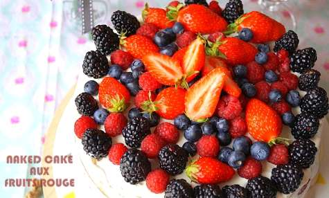 Naked cake aux fruits rouges (layer cake tout nu)
