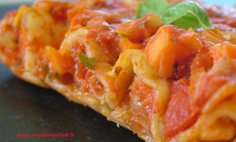 Cannelloni aux tripes à la tomate