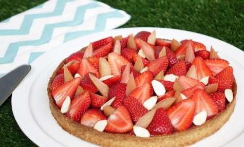 Tarte fraises et rhubarbe