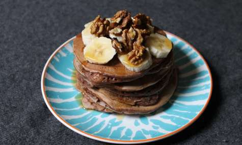 Pancakes au lait de soja au chocolat
