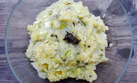 Purée de topinambour, pomme de terre et ortie