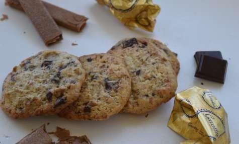 Cookies aux gavottes, chocolat et noisette