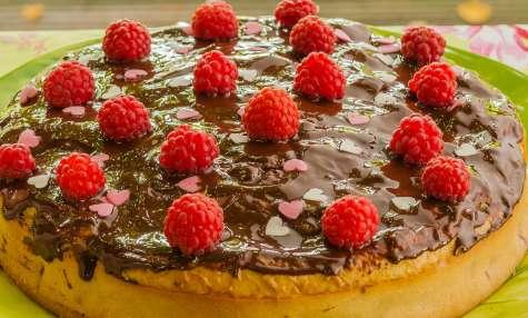 Gâteau à la framboise de Mamie