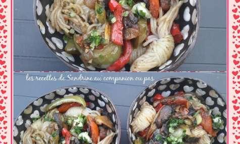 Shirataki de Konjac aux petits légumes fondants