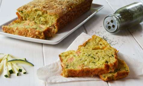Cake courgette et saumon fumé {apéro ou plus} - Au Fil du Thym
