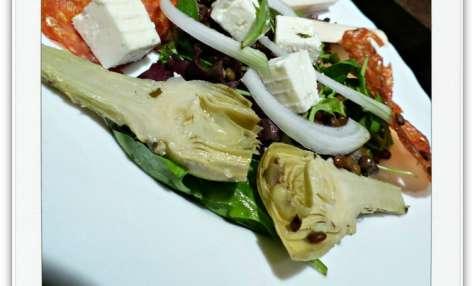 Salade Composée Lentilles, Féta et Chorizo