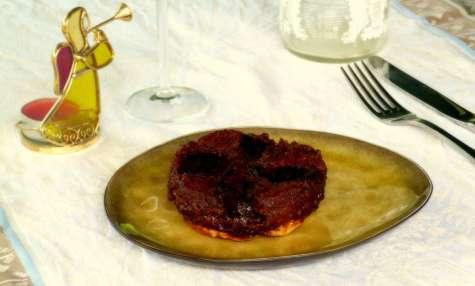 Tatin de pommes au foie gras façon Arnaud Delmontel