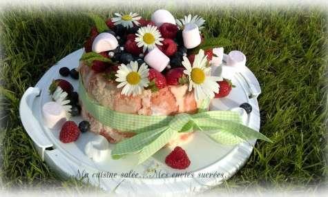Tiramisu VS Charlotte Printanière aux chamallows et fraises
