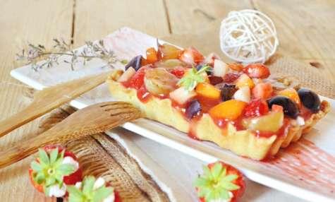 Tartelettes multi fruits frais, brousse et coulis de fruits rouges