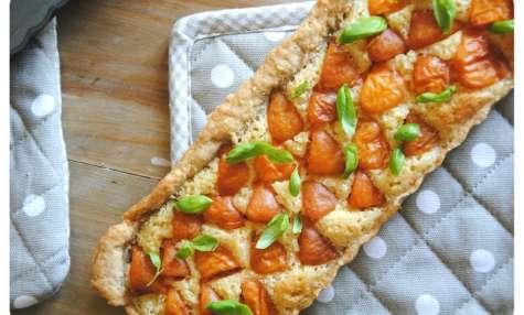 Tarte aux abricots, pâte et crème d'amandes