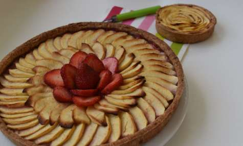 Tarte aux pommes à la fraise