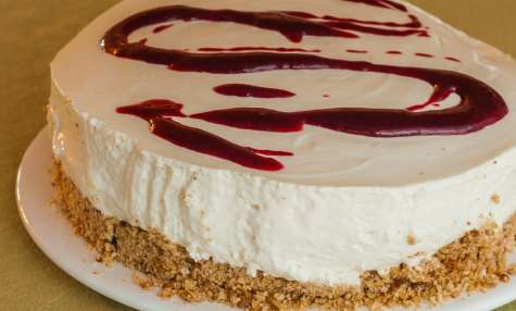 Gateau fromage blanc cassis