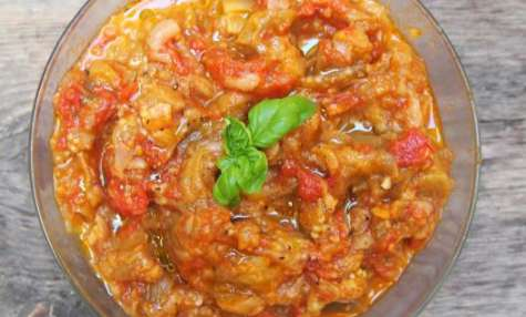Compotée d'aubergines à la tomate
