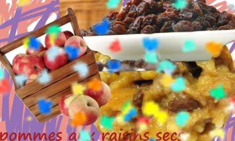 Compotée de pommes aux raisins