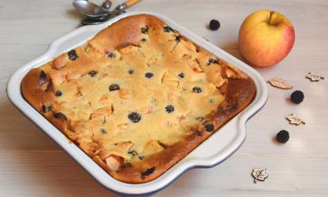 Clafoutis pommes mûres et noisette