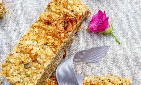 Barre de céréales avoine, coco et abricot