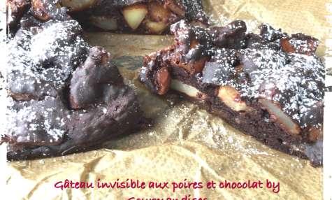 Gâteau aux poires et chocolat vegan