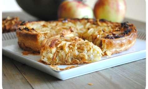 Tarte aux spaghettis de pommes et frangipane
