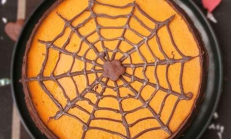 Tarte Halloween et sa toile d'araignée