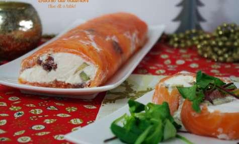 Bûche chèvre et saumon