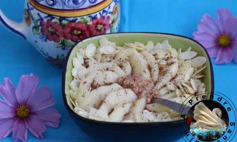 Flocons crémeux sans cuisson poire chocolat amandes