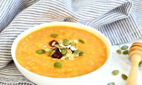 Porridge à la citrouille et au sirop d'érable