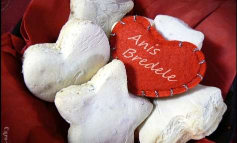 Anis bredele ou petits gâteaux secs alsaciens à l'anis