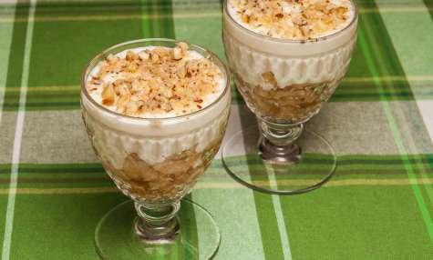 Trifle aux poires et aux noisette grillées