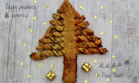 Sapin feuilleté apéritif pour Noël