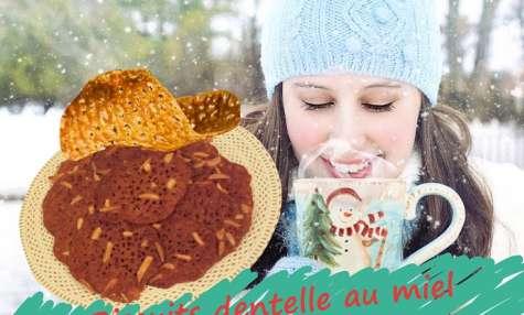 Biscuits dentelle au miel