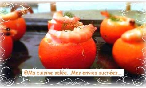 Clémentines - crevettes - carré frais