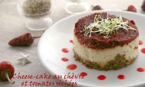 Cheese-cake au chèvre frais et tomates séchées