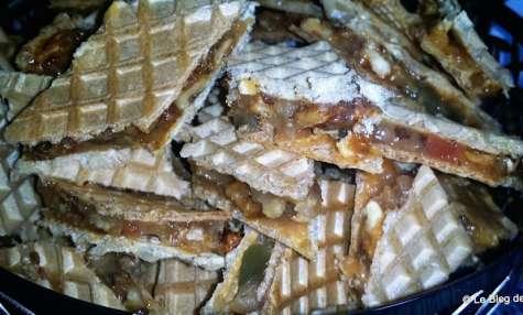 Gaufrettes aux noix et loukoum