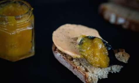 Chutney de mangue au gingembre, zestes d'agrumes et miel d'Alsace