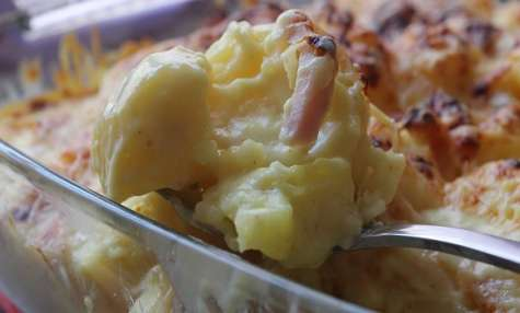 Gratin de pommes de terre aux lardons