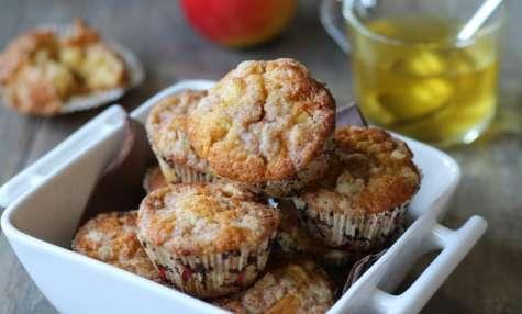 Muffins aux pommes et streusel