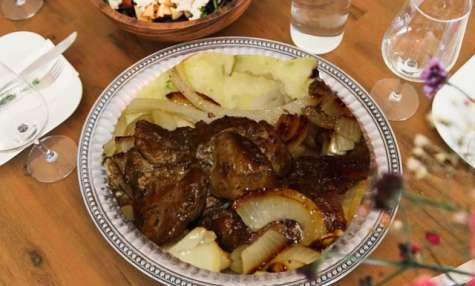 Foie (veau, génisse) aux oignons