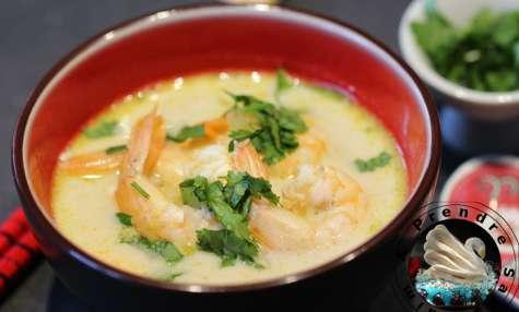 Soupe de crevettes asiatique