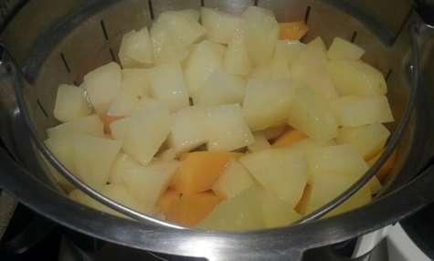 Purée de pommes de terre et courge butternut