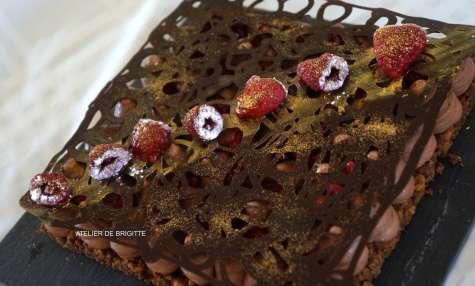 Fantastik chocolat et framboises d'après Christophe Michalak