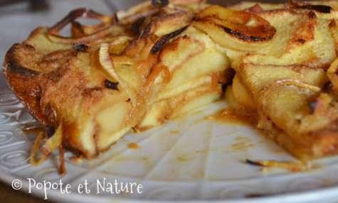 Brioche perdue aux pommes et caramel beurre salé