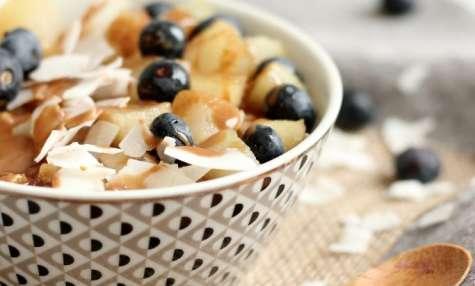 Porridge poire noisette