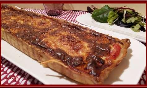 Tarte à la truite fumée et tomate