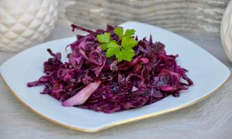 Chou rouge en salade