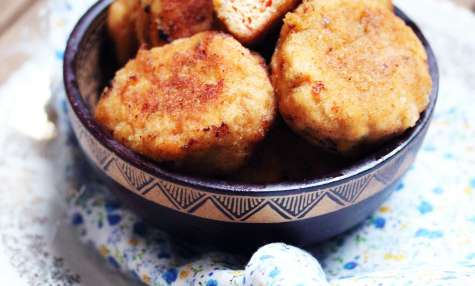 Nuggets maison au poulet et poivrons