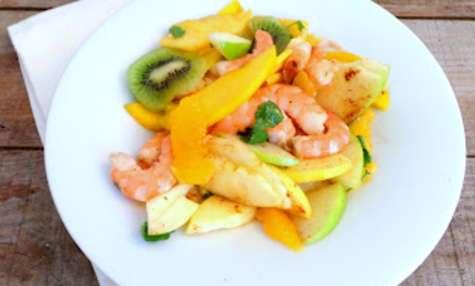 Salade de crevettes aux fruits d'hiver