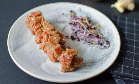 Tartare de saumon au yuzu
