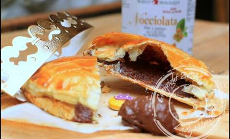 Galette des Rois à la crème d'amandes et pâte à tartiner choco-noisettes