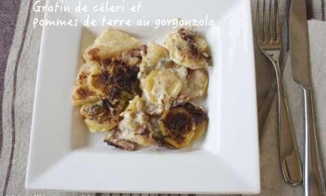 Gratin de céleri rave et pommes de terre au gorgonzola